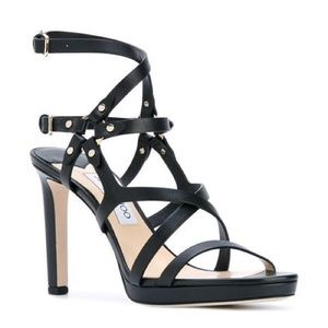Jimmy Choo Monica Leather Sandals Heels, Size 39